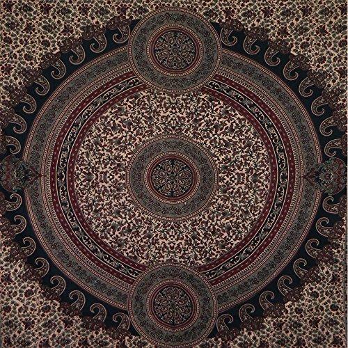 Colcha Paisley verde burdeos 230x210cm algodón Cortina decoración