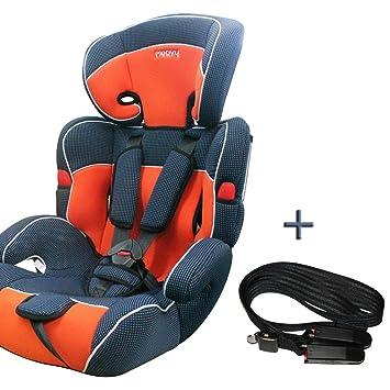siege auto ceinture isofix pour bebe enfant groupe 1 2 3 de 9 a 36kg 8 coloris orange 208. Black Bedroom Furniture Sets. Home Design Ideas