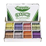 Crayola Crayon Classpack Large Size, 8 Classic Crayola Colors (400 Count) Bulk Pack Is Great for Kids Classrooms or Preschools, Non-Toxic Art Tools for Kids & Toddlers 3 & Up (Color: Assorted, Tamaño: Large)