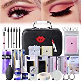 22PCS False Eyelashes Extension Practice Exercise Set, EBANKU Professional Flat Mannequin Training Makeup Eyelash Grafting Training Tool Kit for Practice Eye Lashes Graft (Color: 22PCS)