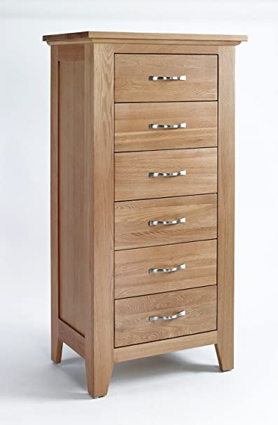 Sherwood Oak Chest 6 Drawer Tall