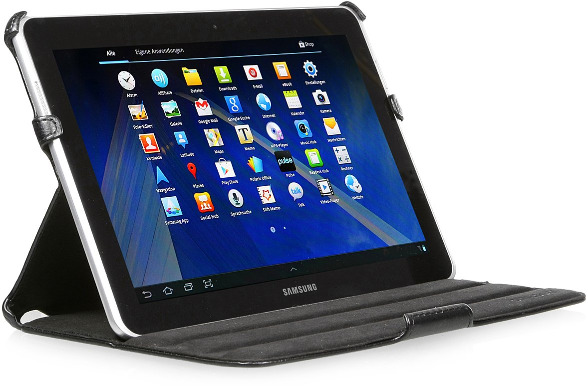 StilGut® UltraSlim Case, funda con funcion de soporte para el original Samsung Galaxy Tab 2 10.1, negro  Electrónica Comentarios de clientes y más información