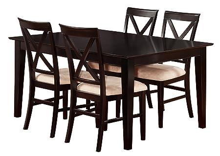 Shaker Dining Set, 36 x 60 inch, Espresso