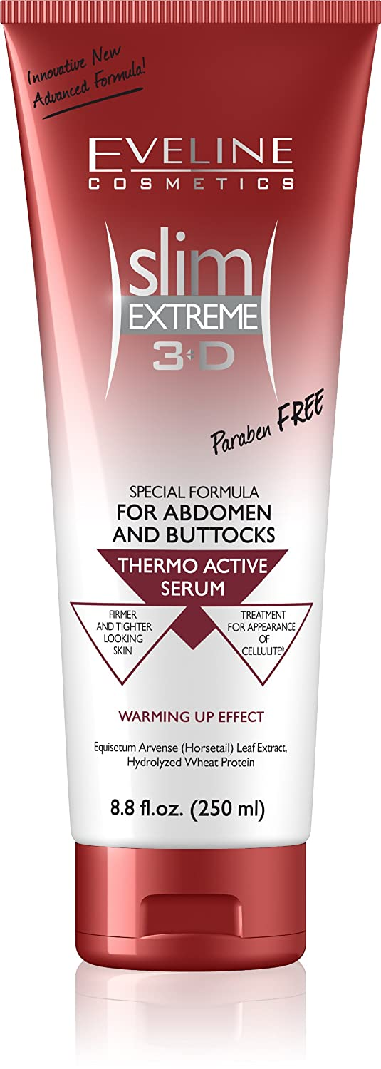 Slim Extreme 3D Thermo Active Serum Shaping Waist, Abdomen and Buttocks - Paraben Free