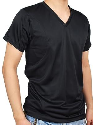 CREAL 脇汗パッド付きシャツ(クールマックス ブラック) 吸水速乾