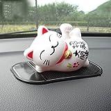 Cute Lucky Cat Car Ornament Shake Hand Sleep Lazy Cat Car Interior Decorations Car Decor Home Decor