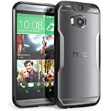 HTC One M8 Case, SUPCASE Unicorn Beetle Premium Hybrid Protective Case for All New HTC One M8 2014 Release (Frost Clear/Black) (Color: Clear/Black, Tamaño: HTC One M8)