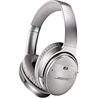 Bose QuietComfort 35 Over-Ear Wireless Bluetooth Headphones (Silver)