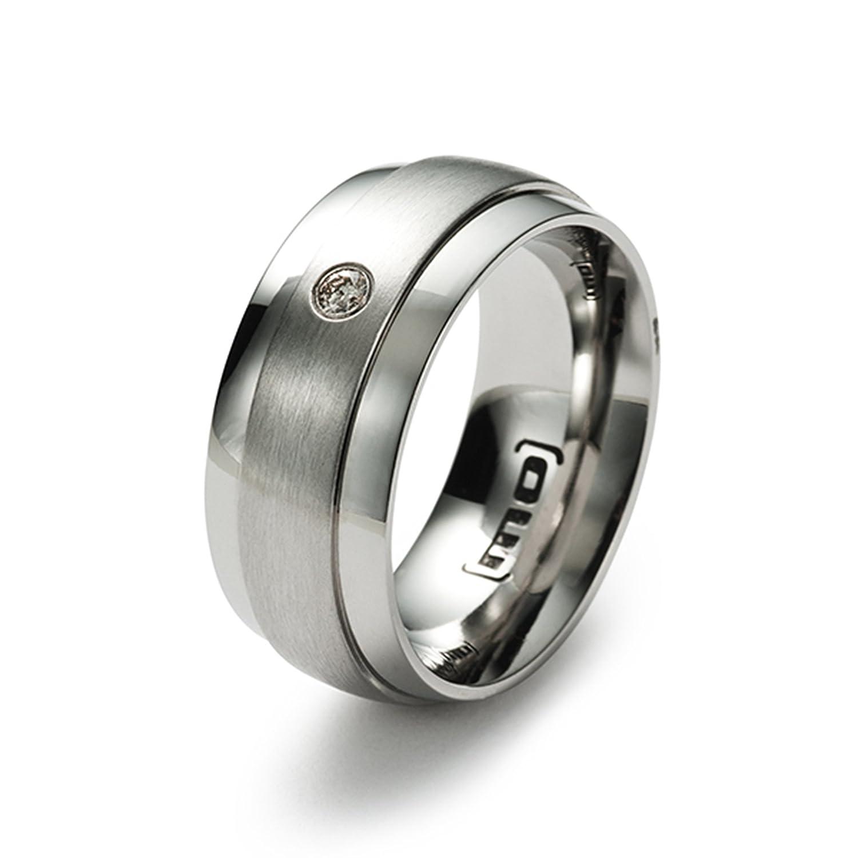 Monomania Damen-Partnerring Edelstahl 1 Diamant 0,04 ct weiß 25374 jetzt kaufen