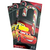Disney Cars 3 Strawberry Flavored Candy Cane Christmas Stocking Stuffer, 2 oz, Pack of 3 (Tamaño: Cars 3)