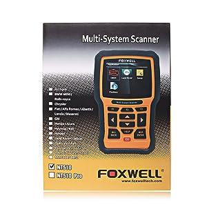 Foxwell NT510 OBD II Code Scanner Honda/Acura Multi-System
