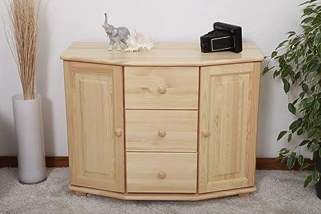 Dresser solid natural pine wood 059 - Dimensions 78 x 100 x 47 cm (H x B x T)