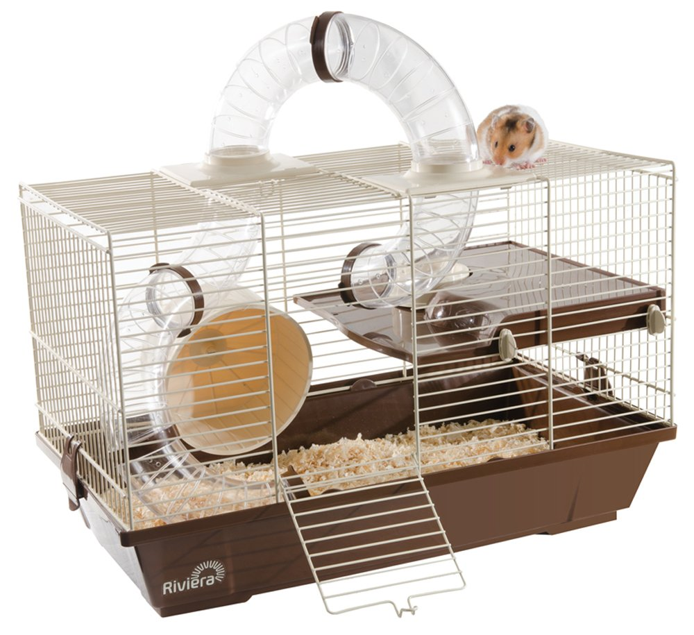 Hamster Mice Gerbil Cage with Wheel & Tubes