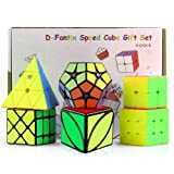 D-FantiX Speed Cube Set, Cyclone Boys 2x2 3x3 Speed Cube Stickerless, Pyramid Cube, Qiyi Ivy Cube, Shengshou 2x2 Megaminx, Fisher Cube, Magic Cube Puzzles Toys for Kids 6 Pack