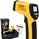 ennoLogic Temperature Gun Dual Laser Non-Contact Infrared Thermometer -58°F to 1202°F - NIST Option Available - Accurate Digital Surface IR Thermometer eT650D (Color: Yellow, Black, Tamaño: eT650D)