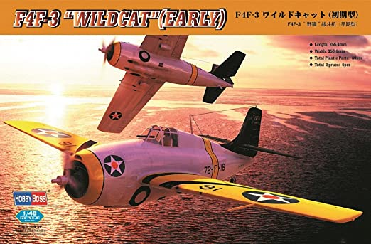 Hobby Boss 80326 F4F-3 Wildcat early 1:48 Plastic Kit Maquette