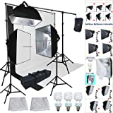 Linco Lincostore Studio Lighting 3 Point Light Backdrop Background Support with Boom Arm Stand and Counterweight