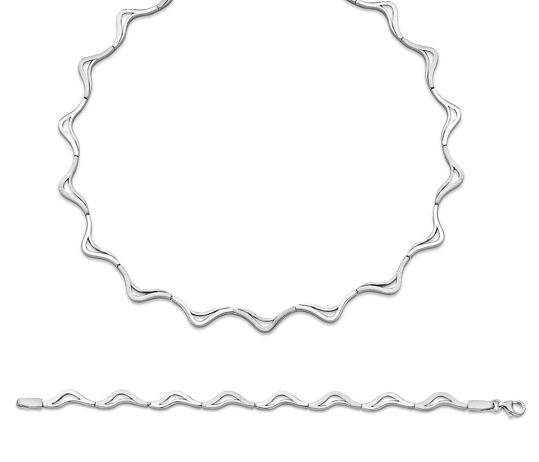 Orphelia Damen-Schmuckset Pure Collection 925 Sterlingsilber Kette 43 cm Armband 19 cm SET-033 als Weihnachtsgeschenk kaufen