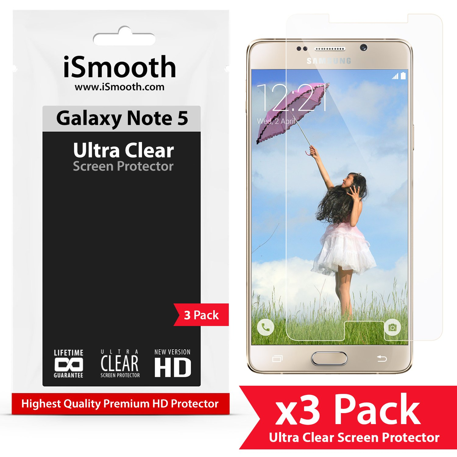 Galaxy Note 5 Screen Protector Made with High Quality PET