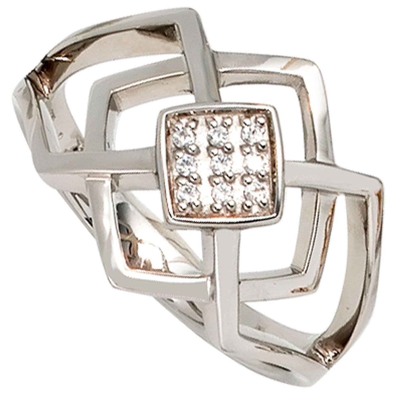 Damen-Ring 585 Weißgold 9 Diamant-Brillanten kaufen