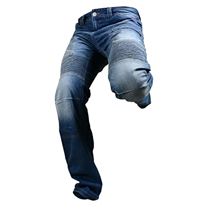 Overlap OVP-ROAD-SMALT33 Jeans de Moto Road Smalt Bleu Taille 33