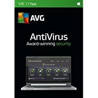 AVG AntiVirus 2016 Software for 1 PC with 1 Year Subscription