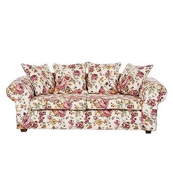 jack and alice canap canap colmar 3 places tissu motif fleurs beige cuisine. Black Bedroom Furniture Sets. Home Design Ideas