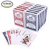 LotFancy Playing Cards, Poker Size Standard Index, 12 Decks of Cards (6 Blue and 6 Red) by, for Blackjack, Euchre