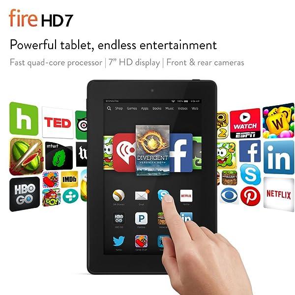 Tablet de 7 pulgadas, Kindle Fire HD 7, de 8 GB, Wi-Fi, incluye ofertas especiales, color negro
