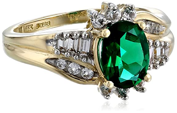 10k-Yellow-Gold-Created-Emerald-and-Created-White-Sapphire-Ring