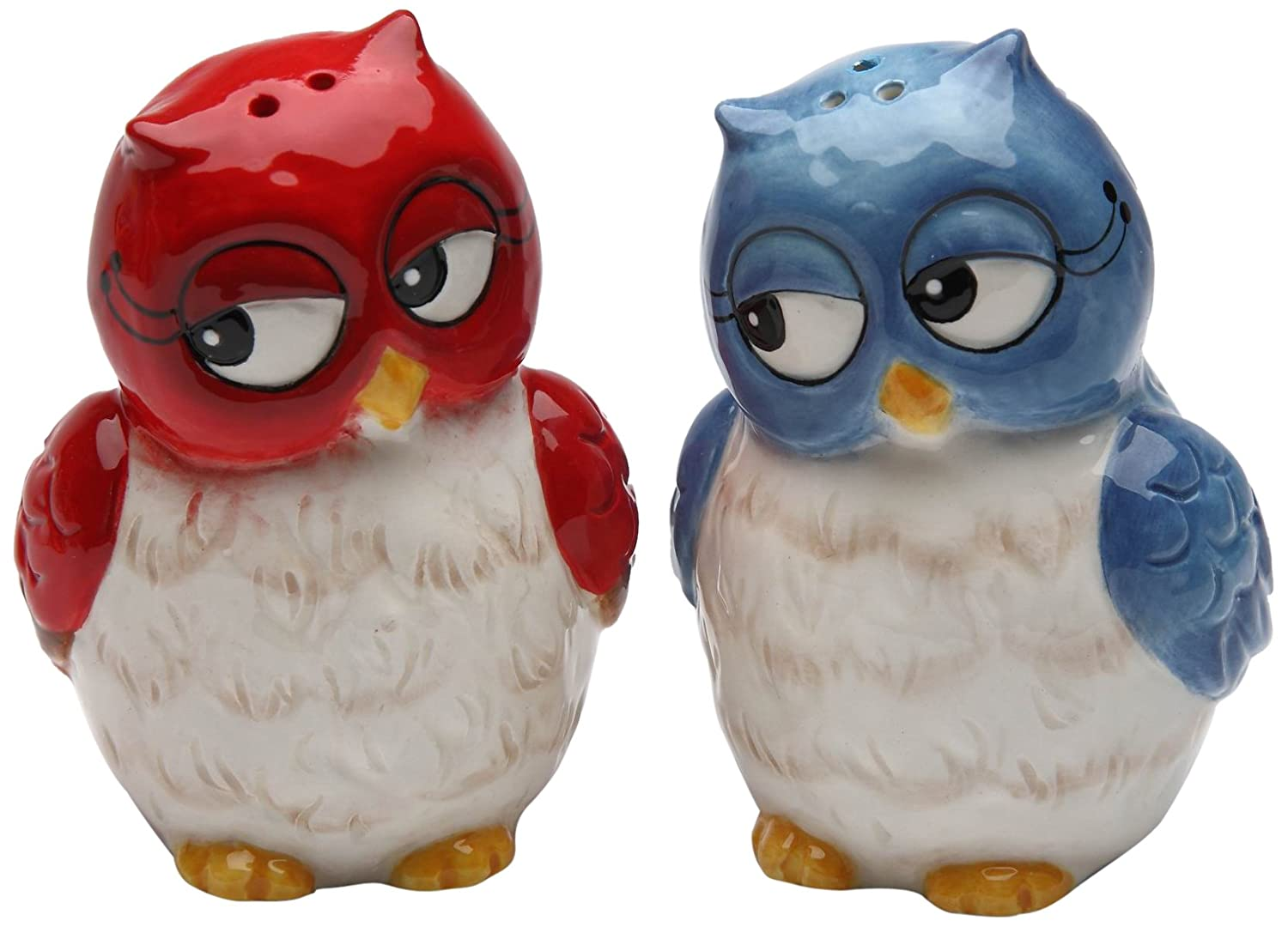 Cosmos Gifts 10907 Owl Couple Salt and Pepper Set, 3-Inch