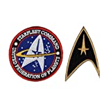 Star Trek Starfleet Command United Federation of Planets Bundle 2pcs Hook Patch by Miltacusa (Color: multicolored, Tamaño: 3.0 inch)