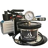 ABLAZE 1.5 Quart Stainless Steel Vacuum Degassing Chamber and 3 CFM Single Stage Pump Kit (Tamaño: 1.5 Quart Pump Kit)