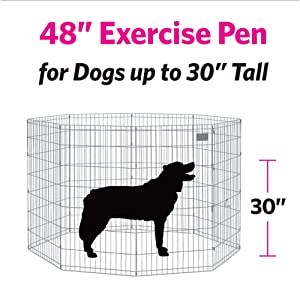 Midwest Products Co. Exercise Pen with Step-Thru Door (Tamaño: X-Large)