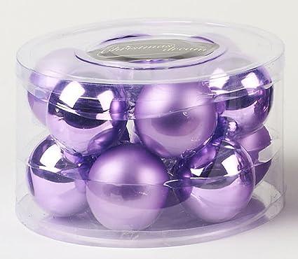 Idea natale: set 12 palle natalizie lilla per addobbi albero di ...