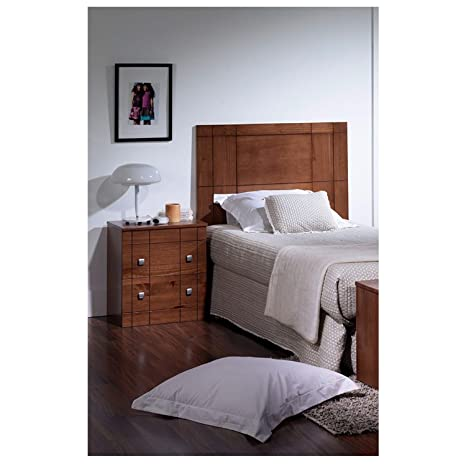 Headboard 90 + Bedside Table in Wood Walnut r-kub
