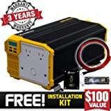 KRIËGER 4000 Watt 12V Power Inverter, Dual 110V AC outlets, Installation kit Included, Back up Power Supply for Large appliances, MET Approved According to UL and CSA Standards. (Color: 4000 Watt, Tamaño: 4000 Watt)