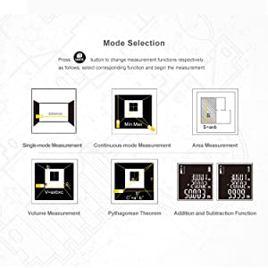 DEKOPRO 196ft Laser Distance Measure Device Large Digital LCD Display with Bubble level, Area, Volume and Pythagorean Mode Continuous Measurement Elec
