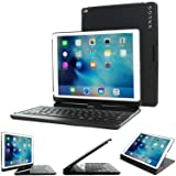 iPad Mini 1 / 2 / 3 360 Rotatable Keyboard Case, SnuggTM - Ultra Slim Keyboard Cover Case with Bluetooth Connectivity For Apple iPad Mini 1 / 2 / 3 Retina (Black) (Color: Black, Tamaño: iPad mini 1 / 2 / 3)