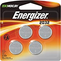 4-Pack Energizer 2032BP-4 3 Volt Lithium Coin Battery