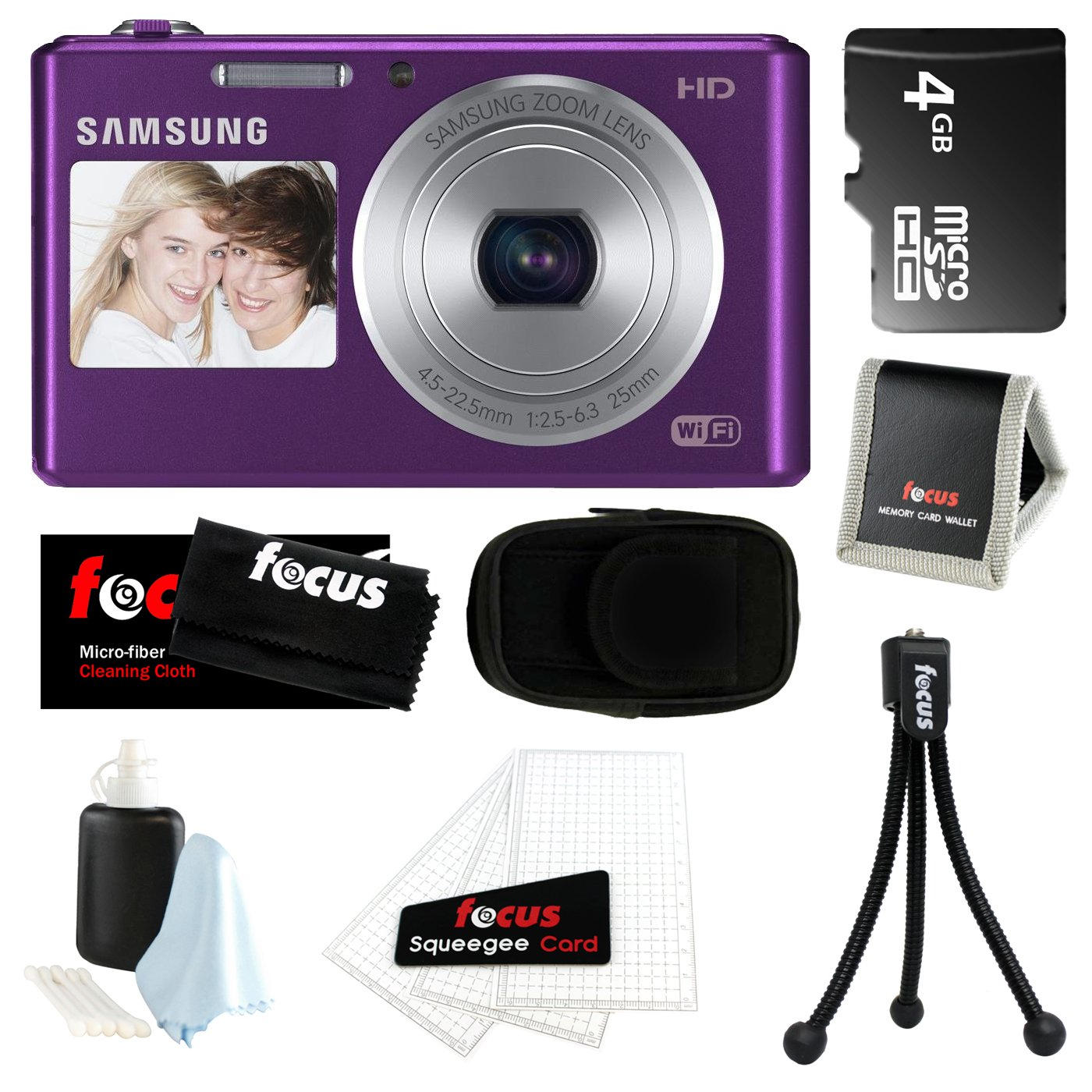 Samsung DV150F 16.2MP Dual-View Smart Camera w/ Built-in Wi-Fi in Cobalt Plum Lavander + 4GB MicroSD HC Memory Card + Camera Cas at Sears.com