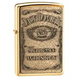 Jack Daniel'S High Polish Brass Zippo Outdoor Indoor Windproof Lighter Free Custom Personalized Engraved Message Permanent Lifetime Engraving on Backside (Color: Multi)