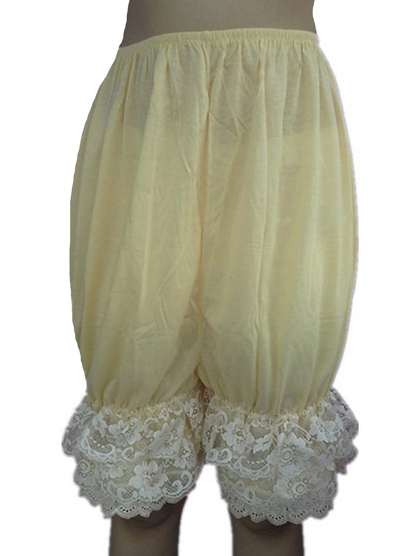 Frauen Handgefertigt Halb Slips UL5CIV IVORY Half Slips Cotton Women Pettipants Lace online kaufen