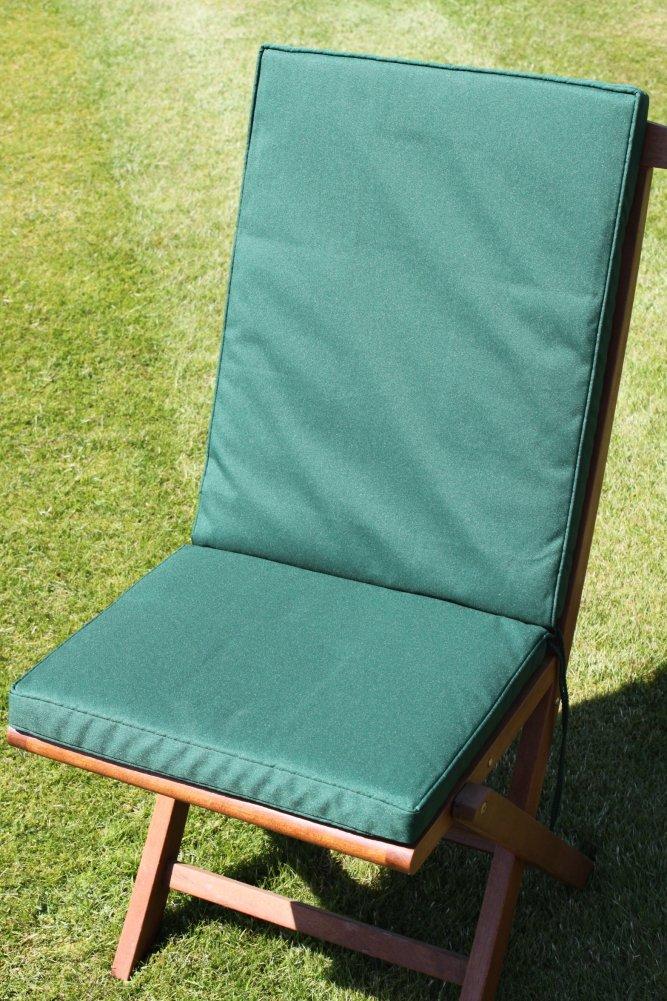 Gartenmöbel-Auflage - Sitz- und Rückenkissen für Klappstuhl in Grün