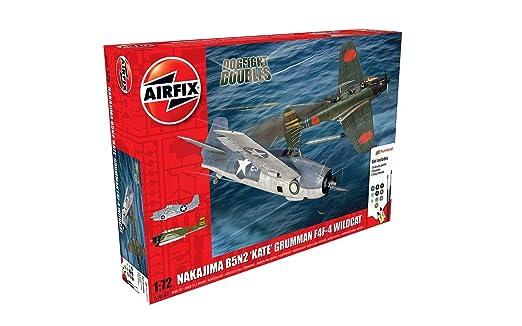 Airfix - Ai50169 - Coffret Dogfight Doubles - Nakajima B5n2 - Kate - Grumman Wildcat F4f-4 - 165 Pièces - Échelle 1/72