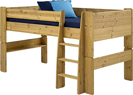 STEENS NATURAL PINE MIDSLEEPER BED FRAME ONLY WITH PLAY SPACE UNDERNEATH FROM CENTURION PINE
