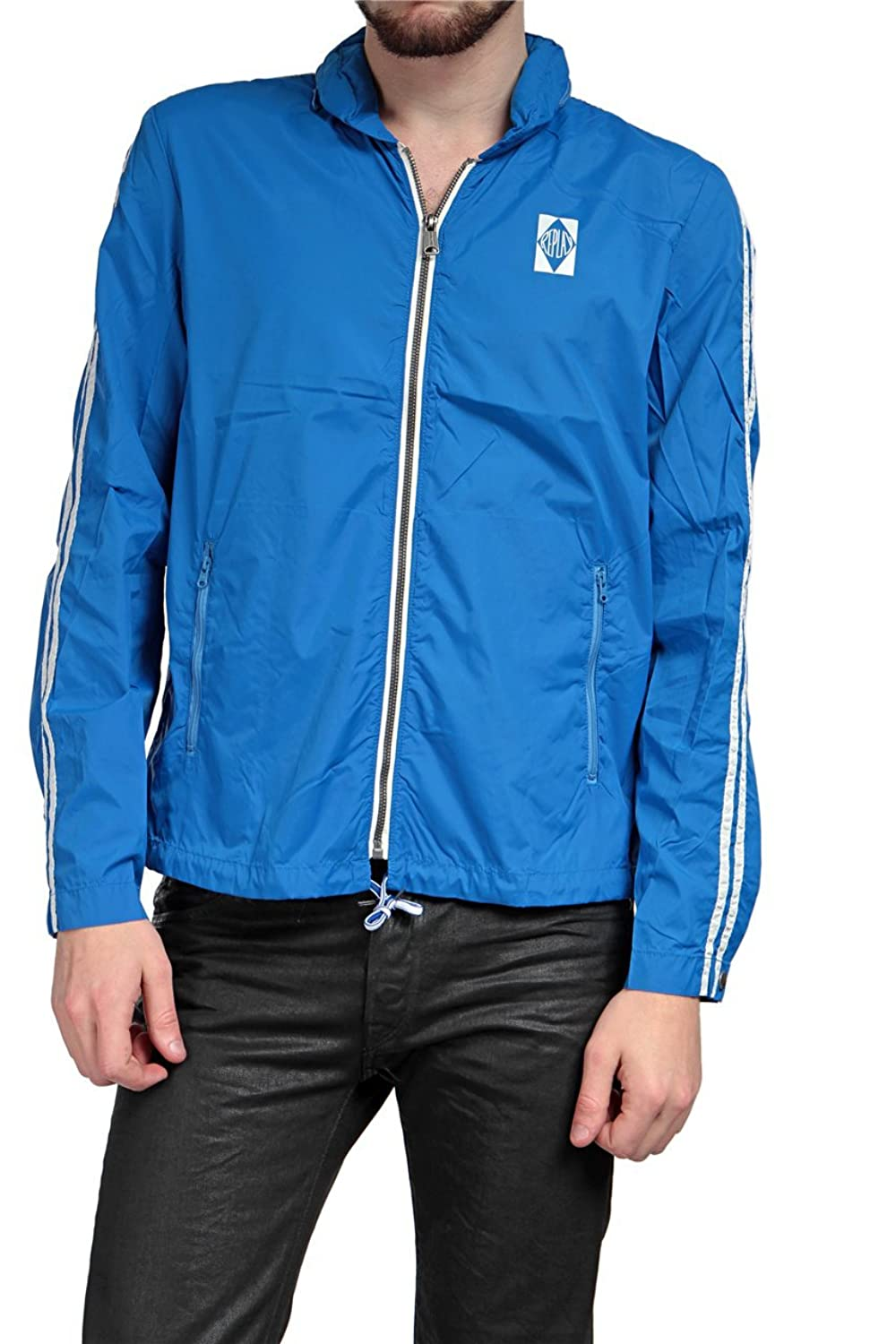 Replay Herren Windjacke , Farbe: Blau