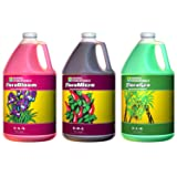 General Hydroponics Flora Grow, Bloom, Micro Combo Fertilizer, 1 gallon each, Pack of 3 (Tamaño: 1 gallon each, pack of 3)