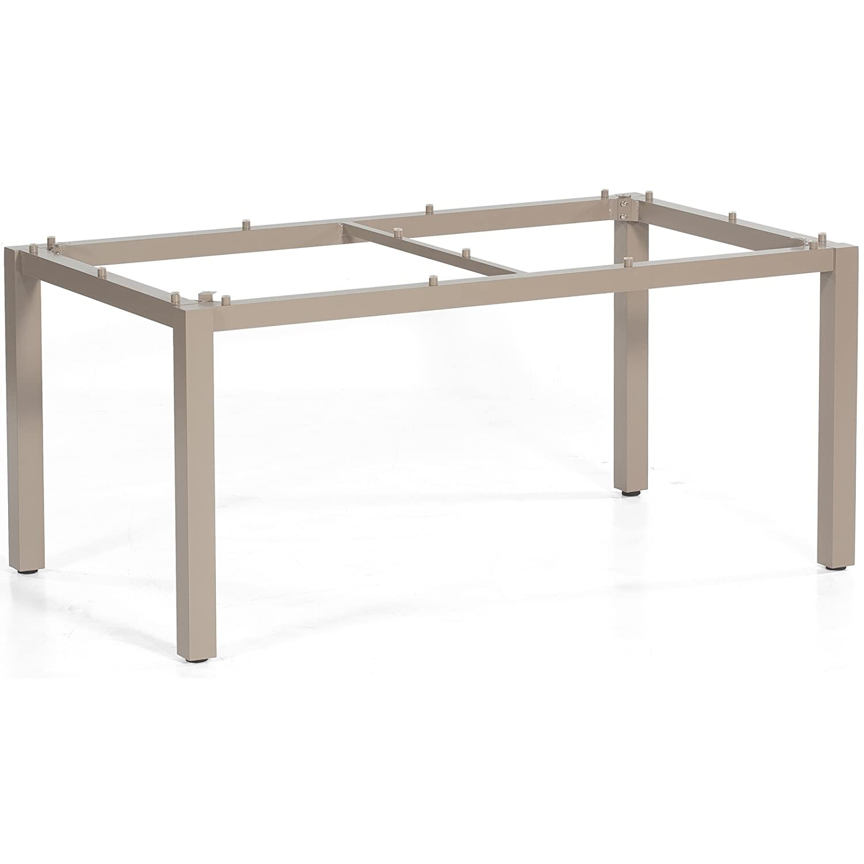 Sonnenpartner Gartentisch/Tisch System Base/Style Aluminium/Old-Teak 90 x 90 cm günstig kaufen