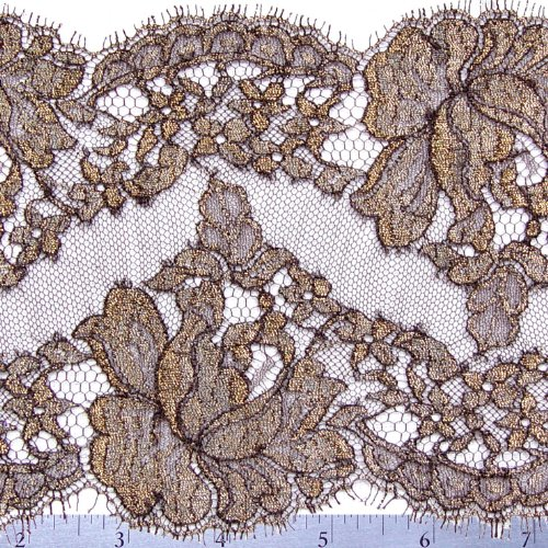 Chantilly Lace Trim 6 Inch Brown